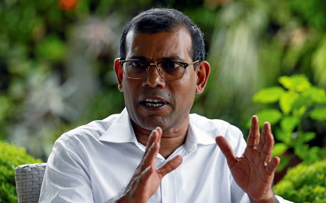 Maldives' former president Mohamed Nasheed speaks during an interview with Reuters in Colombo, Sri Lanka June 4, 2018. Reuters