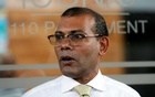 Maldives former President Mohamed Nasheed leaves a private apartment in Sri Lanka to return in his country, after living in exile between London and Colombo for over two and a half years, Colombo, Sri Lanka Nov 1, 2018. REUTERS