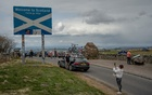 The England-Scotland border on May 2, 2021. A new vote for secession from the United Kingdom may be looming, as Scots continue to disagree with the Brexit decision and advocate for a more liberal direction. Andrew Testa/The New York Times