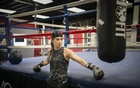 Canadian boxer Mandy Bujold trains in Kitchener, Canada, May 6, 2021. The New York Times