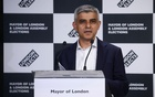 Mayor of London Sadiq Khan speaks after being re-elected in the London mayoral election, at the City Hall in London, Britain, May 8, 2021. REUTERS