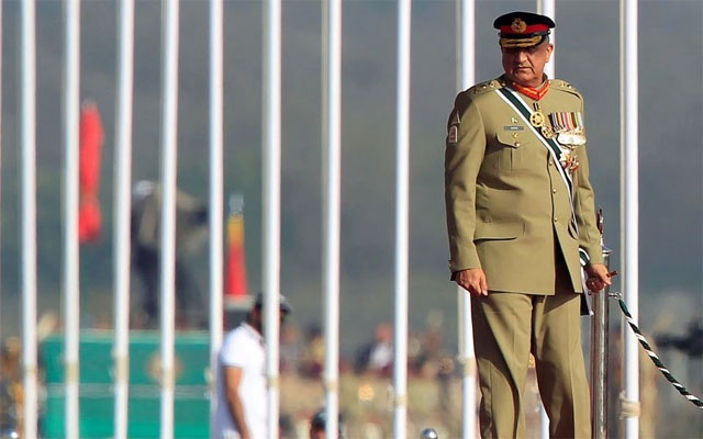 Pakistan's Army Chief of Staff General Qamar Javed Bajwa arrives to attend the Pakistan Day military parade in Islamabad, Pakistan, Mar 23, 2017. REUTERS
