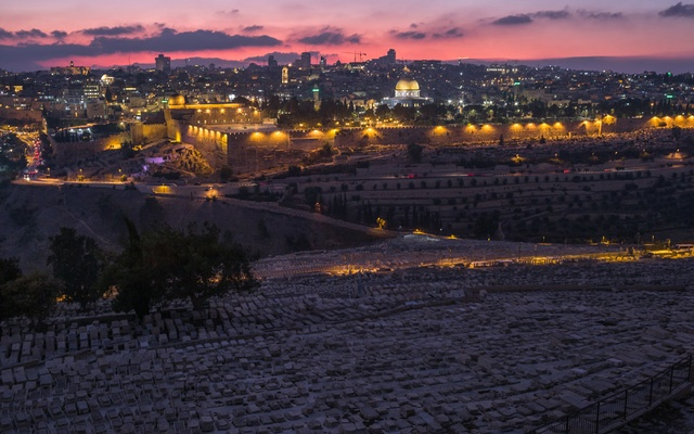 A view of the Al Aqsa Mosque, and the Old City of Jerusalem, from the Mount of Olives on Sept 13, 2019. The mosque sits on a site sacred to Christians, Muslims and Jews, and it is a chronic flash point in the protracted Israeli-Palestinian conflict.
