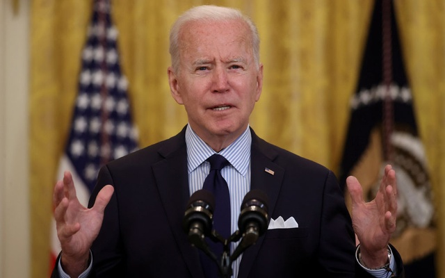 US President Joe Biden delivers remarks on the April jobs report from the East Room of the White House in Washington, US, May 7, 2021. REUTERS