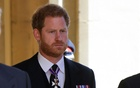 Britain's Prince Harry, Duke of Sussex looks on as he attends the funeral of Britain's Prince Philip, husband of Queen Elizabeth, who died at the age of 99, in Windsor, Britain, April 17, 2021. Chris Jackson/Pool via REUTERS