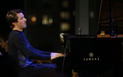 "FILE -- The pianist and composer Dan Tepfer performs at Dizzy's Club in New York, Sept 9, 2015. With ""Inventions/Reinventions,"" Tepfer fills out Bach's missing two-part inventions with daring free improvisations. (Michelle V Agins/The New York Times"
