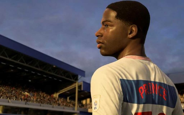 Kiyan Prince is seen in this FIFA21 in-game still. REUTERS