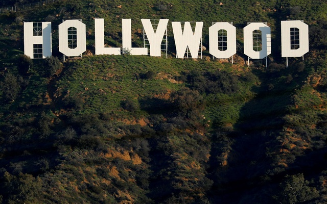The iconic Hollywood sign is shown on a hillside above a neighbourhood in Los Angeles California, US, February 1, 2019. REUTERS