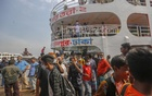 Although launch operators are ordered to take passengers at half the capacity to ensure physical distancing amid a coronavirus outbreak, Sonar Tori-2 from Chandpur carried passengers like normal times on Monday, May 24, 2021. Photo: Mahmud Zaman Ovi