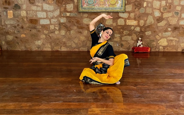 In an undated image provided by Lynne Fernandez, Surupa Sen, performing at the Nrityagram dance colony. The World Music Institute's Dancing the Gods festival is online this year. The New York Times