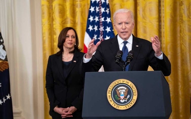 President Biden's first budget request calls for the federal government to spend $6 trillion in the 2022 fiscal year. Credit...Doug Mills/The New York Times