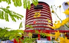The newly constructed 14-storey headquarters for the Directorate of Posts was inaugurated on Thursday, May 27, 2021, by Prime Minister Sheikh Hasina in Agargaon, Dhaka. Photo: Asif Mahmud Ove