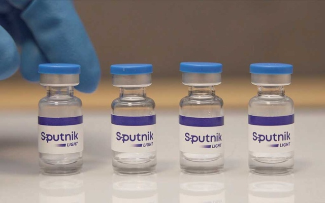 A handout photo provided by the Russian Direct Investment Fund (RDIF) shows samples of Sputnik Light vaccine against the coronavirus disease (COVID-19) developed by the Gamaleya Research Institute of Epidemiology and Microbiology, in this still image taken from video released May 6, 2021. REUTERS
