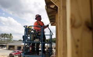 An apartment complex under construction in Orlando, Fla., on April 26, 2021. The pandemic has slowed sawmill operations, causing a shortage of lumber that has hampered home building in the United States. (Octavio Jones/The New York Times