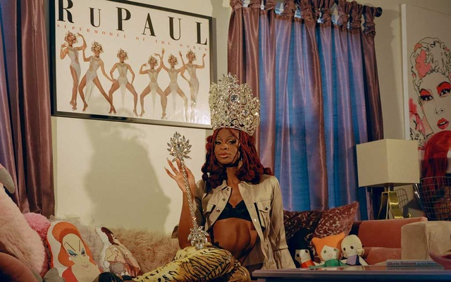 """Symone at The House of Avalon, a queer fashion and pop culture collective, in Los Angeles on May 11, 2021. """"I really want to stretch this box that is drag,"""" Symone said. Natalia Mantini/The New York Times"""