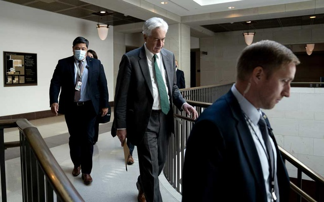 CIA Director William Burns arrives for a closed briefing at the US Capitol in Washington on May 19, 2021. The New York Times