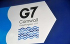 A G7 logo is seen on an information sign near the Carbis Bay hotel resort, where an in-person G7 summit of global leaders is due to take place in June, St Ives, Cornwall, southwest Britain May 24, 2021. 2021. REUTERS