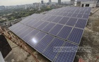 A solar panel installed on the roof of a government institution in Mohakhali, Dhaka. As the demand for electricity increases day by day, renewable energy is being prioritised in a bid to reduce dependence on coal and oil-based fuels. The use of solar power is increasing as a result. Photo: Asif Mahmud Ove