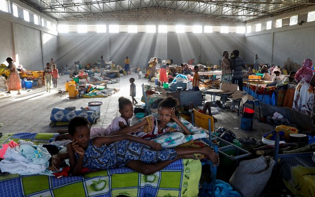 Displaced people are seen at the Shire campus of Aksum University, which was turned into a temporary shelter for people displaced by conflict, in the town of Shire, Tigray region, Ethiopia, March 14, 2021. REUTERS/Baz Ratner