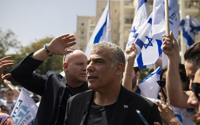 Yair Lapid, a leading Israeli centrist politician, casts his vote in the general election in Tel Aviv, April 9, 2019. The New York Times