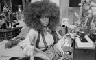 FILE -- Erykah Badu at her home in Dallas, July 9, 2020. Music and mindfulness have become increasingly linked during the pandemic, and artists like Erykah Badu, Grimes and Arcade Fire are teaming with tech companies to make it happen. (Rahim Fortune/The New York Times)