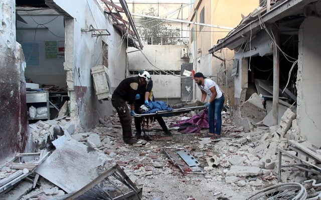 At least 13 people were killed in two separate artillery attacks on the northern Syrian town of Afrin on Saturday. The White Helmets. TWITTER