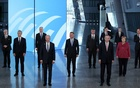 NATO Heads of the states and governments pose for a family photo during the NATO summit at the Alliance's headquarters, in Brussels, Belgium June 14, 2021. REUTERS