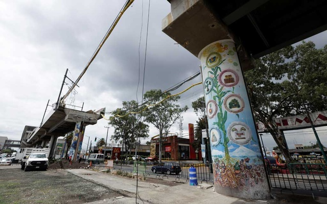 An image of the site of a deadly metro overpass accident that collapsed last month and left 26 people dead, in Mexico City, Mexico June 14, 2021. REUTERS