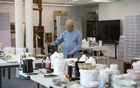 The Korean painter Park Seo-Bo at his studio in Seoul, Jun 6, 2021. As Seo-Bo, 89, pursues two museums for his art, the shows keep coming — along with a candid book by his daughter. Woohae Cho/The New York Times