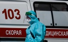 A medical specialist walks by an ambulance outside a hospital for patients infected with the coronavirus disease (COVID-19) in Moscow, Russia June 16, 2021. Reuters