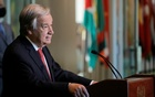 UN Secretary-General Antonio Guterres speaks as UN General Assembly appointed him for a second five-year term from January 1, 2022, in New York City, New York, US, June 18, 2021. Reuters