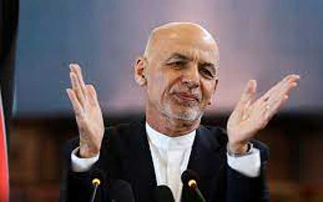 Afghanistan's President Ashraf Ghani gestures during celebrations to mark Afghan New Year (Newroz), in Kabul, Afghanistan March 21, 2021. REUTERS