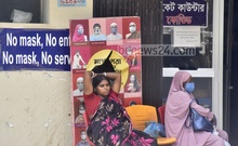 Relatives wait outside the emergency department of Chattogram Medical College Hospital to admit their loved ones on Tuesday, Jun 22, 2021. Photo: Suman Babu