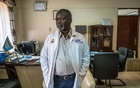 """Dr George Rae, chief executive of the Jaramogi Oginga Odinga Teaching and Referral Hospital, in Kisumu County, Kenya on June 14, 2021. Dr Rae said he felt """"besieged"""" by the sharply rising number of cases in Kisumu and surrounding counties. (Brian Otieno/The New York Times)"""