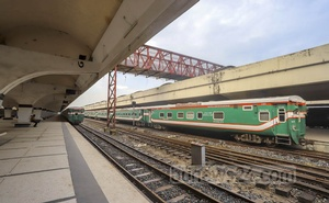 No train left from Kamalapur Railway Station on Wednesday, Jun 23, 2021 as the authorities have suspended passenger train services to and from Dhaka due to the coronavirus outbreak. Photo: Asif Mahmud Ove