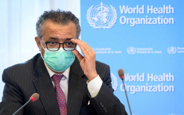 World Health Organization (WHO) Director General Tedros Adhanom Ghebreyesus speaks during a bilateral meeting with Swiss Interior and Health Minister Alain Berset on the sidelines of the opening of the 74th World Health Assembly at the WHO headquarters, in Geneva, Switzerland May 24, 2021. Reuters
