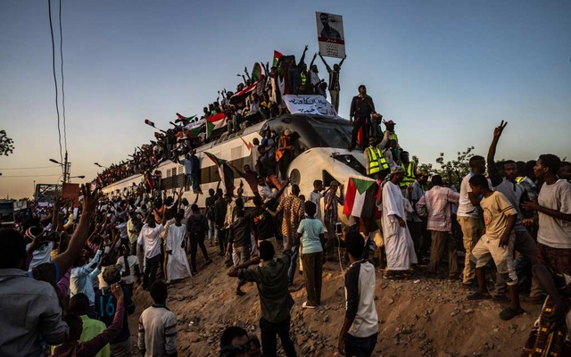 Protesters arrive in Sudan's capital of Khartoum, April 23, 2019. The New York Times