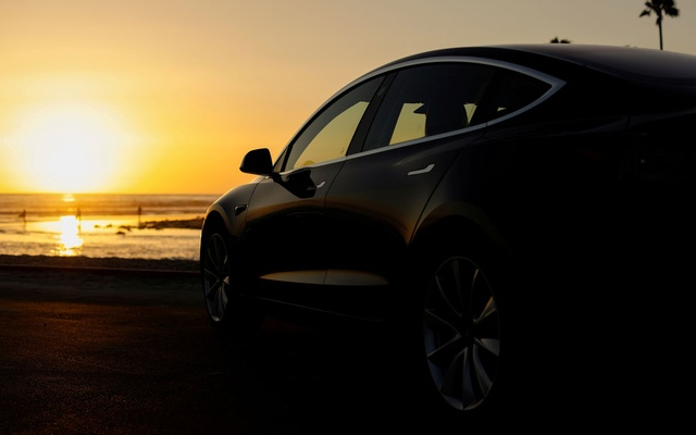 A 2018 Tesla Model 3 electric vehicle is shown in this photo illustration taken in Cardiff, California, US, June 1, 2018. REUTERS