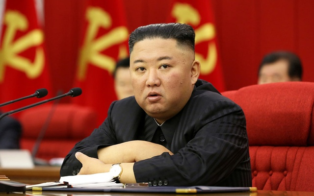 North Korean leader Kim Jong Un speaks during the fourth-day sitting of the 3rd Plenary Meeting of 8th Central Committee of the Workers' Party of Korea in Pyongyang, North Korea in this image released Jun 18, 2021 by the country's Korean Central News Agency. REUTERS