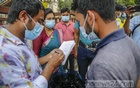 Executive Magistrate Marufa Sultana Khan Hira fined a man, who gave his name only as Badal, Tk 1,000 in Dhaka's Shahbagh for using a fake sticker on his car on Saturday, Jul 3, 2021, the third day of a coronavirus lockdown. Photo: Mahmud Zaman Ovi