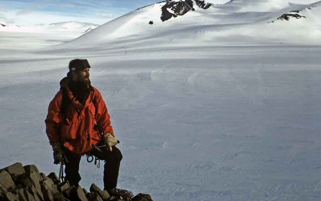 A handout photo shows Dan Hikuroa, a lecturer in Maori studies at the University of Auckland in New Zealand, while conducting his graduate research in Antarctica in the late 1990s. Hikuroa says he was not surprised to learn of the theory that Maori may have ventured to Antarctica centuries ago. (Daniel Hikuroa via The New York Times