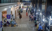 Banks reopened on Monday, July 5, 2021, after a four-day pause amid a nationwide lockdown that started on July 1. Customers turned up at Sonali Bank in Dhaka's Motijheel to take advantage of financial services. Photo: Mahmud Zaman Ovi