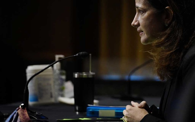 Avril Haines, then the nominee to become director of National Intelligence, appears before the Senate Intelligence committee during her confirmation hearing in Washington on Jan 19, 2021. The New York Times