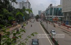 A view of Mirpur Road near Dhanmondi 27 in Dhaka amid the lockdown to curb the soaring rate of COVID-19 infection on Saturday, Jul 10, 2021. Photo: Asif Mahmud Ove
