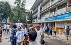 Fans celebrate at Dhaka University on Sunday after Argentina won their first major title in 28 years and Lionel Messi finally won his first medal in a blue-and-white shirt when an Angel Di Maria goal gave them a 1-0 win over Brazil and a record-equalling 15th Copa America. Photo: Rasel Sarker