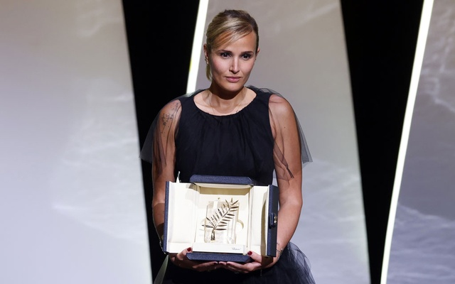 The 74th Cannes Film Festival - Closing ceremony - Cannes, France, July 17, 2021. Director Julia Ducournau, Palme d'Or award winner for the film