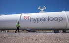 Josh Giegel, co-founder and CEO of Virgin Hyperloop, walks next to a hyperloop tube at the company's hyperloop facility near Las Vegas, Nevada, May 5, 2021. REUTERS/Mike Blake