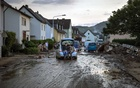 Wreckage in Bad Neuenahr-Ahrweiler, Germany, on Sunday, July 18, 2021, after the floods. The brutal rains that led to the deadly floods were accurately predicted by forecasters. (Gordon Welters/The New York Times)
