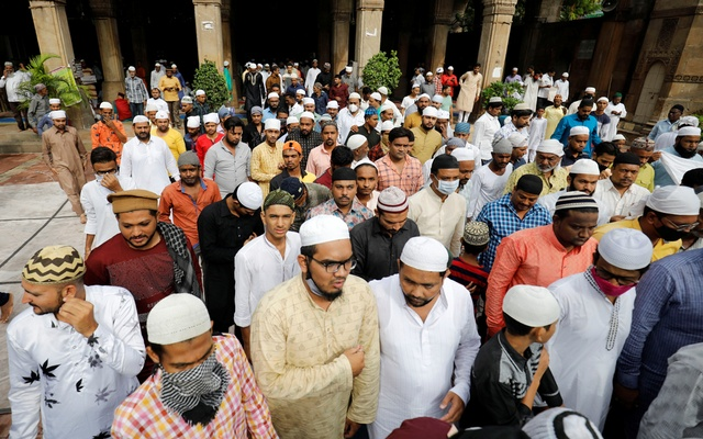 Muslims leave Sidi Saiyyed mosque after offering Eid-ul-Azha prayers, during the ongoing COVID-19 outbreak, in Ahmedabad, India, on Wednesday, July 21, 2021. REUTERS