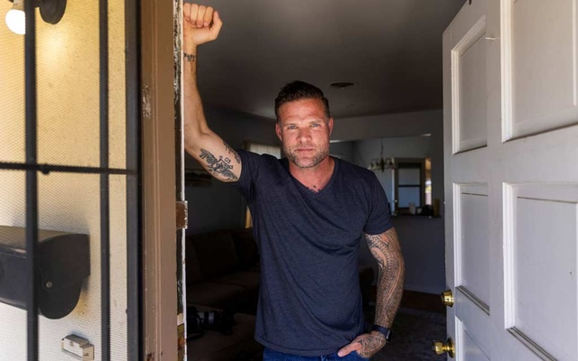 A US special forces veteran Jason Lilley poses for a portrait at his home in Garden Grove, California, US, July 9, 2021. Lilley spoke to Reuters about his experience in Afghanistan and his thoughts as the US leaves the country. Reuters